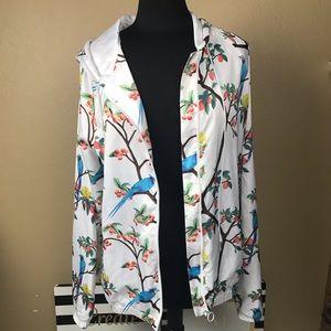 Beautiful Size Large silky like hooded jacket